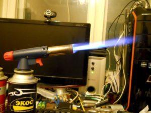 Пайка стали в домашних условиях газовой горелкой