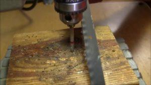 Как просверлить отверстие в ножевой стали?