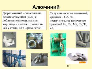 Как отличить силумин от алюминия