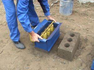 Изготовление строительных блоков в домашних условиях
