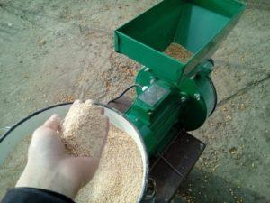 Как дробить зерно в домашних условиях