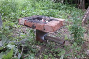 Самодельный горн на древесном угле