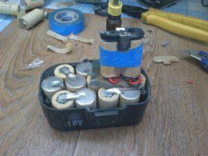 Как заменить аккумулятор на шуруповерте своими руками
