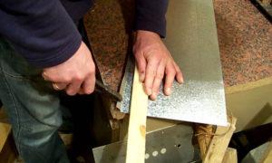 Как согнуть оцинкованный лист своими руками
