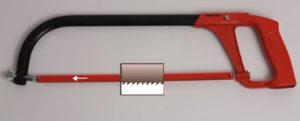 Ножовка по металлу как правильно поставить полотно?