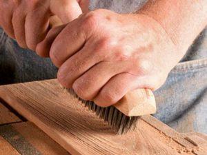 Браширование древесины своими руками