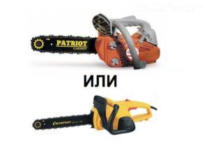 Бензопила или электропила какую выбрать?