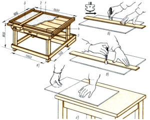 Стол для резки стекла своими руками
