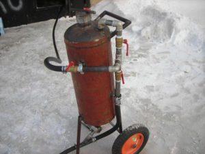 Самодельный пескоструйный аппарат из газового баллона