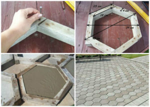 Как изготовить тротуарную плитку в домашних условиях