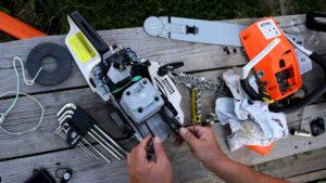 Как отремонтировать бензопилу своими руками