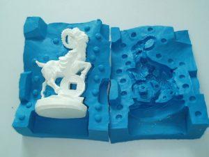 Литьевой пластик и силикон для изготовления форм