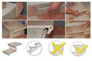 Как правильно класть плитку на ступеньки?