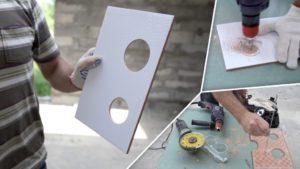 Как сделать круглое отверстие в керамической плитке?
