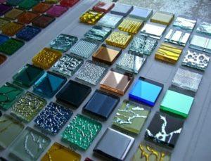 Изготовление плитки из битого стекла