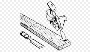 Как работать стамеской по дереву?