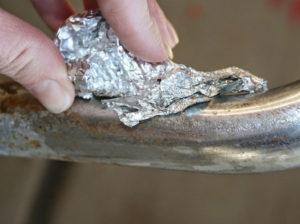 Как убрать окисление с алюминия