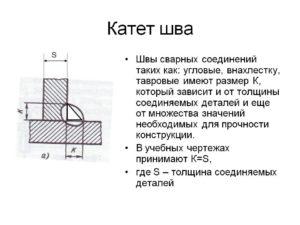 Как рассчитать катет сварного шва?