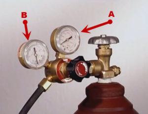 Какое давление углекислоты при сварке полуавтоматом?