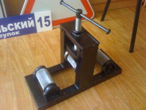 Самодельный гибочный станок для профильной трубы