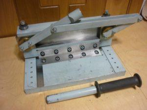 Ручная гильотина для резки металла своими руками
