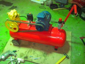 Как сделать самодельный компрессор для покраски авто