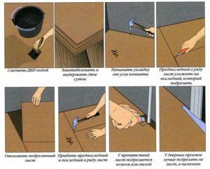 Укладка линолеума своими руками пошаговая инструкция