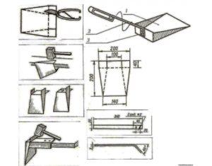 Как сделать совок из металла?