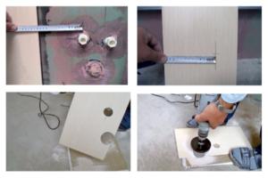 Как вырезать отверстие в плитке под смеситель?
