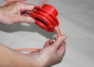 Как правильно наматывать леску на катушку триммера?