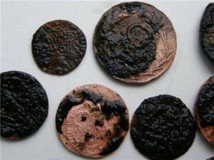 Как почистить медную монету в домашних условиях