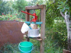 Самодельная соковыжималка для яблок большой производительности