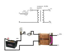 Самодельные выпрямители для зарядки автомобильных аккумуляторов