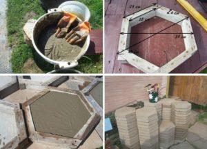 Как делать тротуарную плитку в домашних условиях