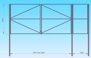 Как правильно сварить ворота из профильной трубы?