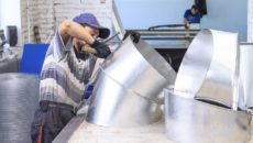 Оборудование для изготовления воздуховодов из оцинкованной стали