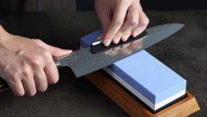 Как наточить нож точильным камнем