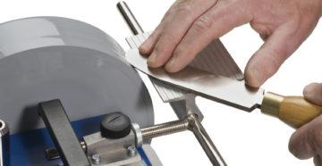 Приспособление для заточки ножей на электроточиле