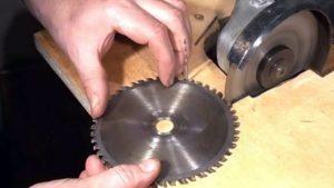 Как правильно заточить дисковую пилу?